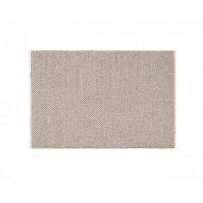 Beige Wool Yute Rug