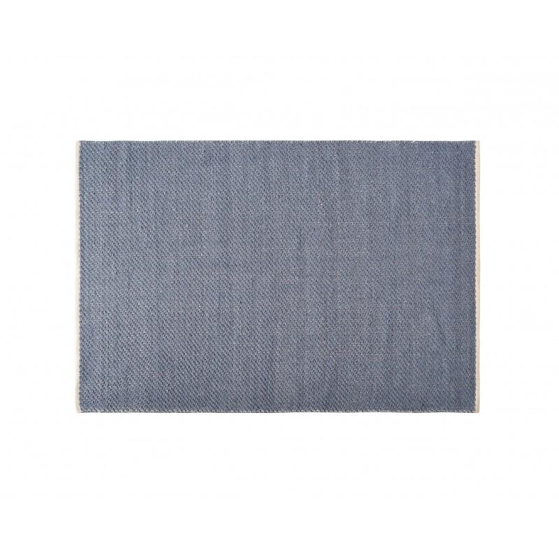 Blue Wool Yute Rug