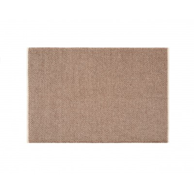 Brown Wool Yute Rug