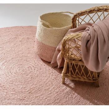 Pink Yute Basket