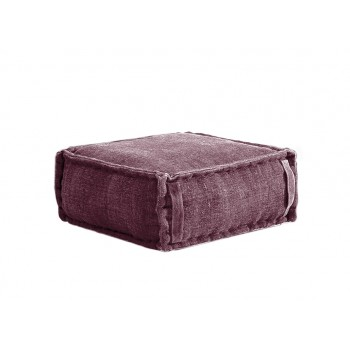Stone Washed Square Pouf S - Rose