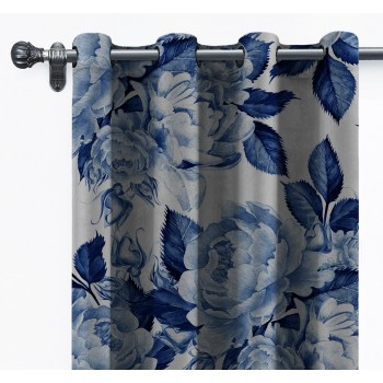 Cortina de terciopelo (Blue Flowers)