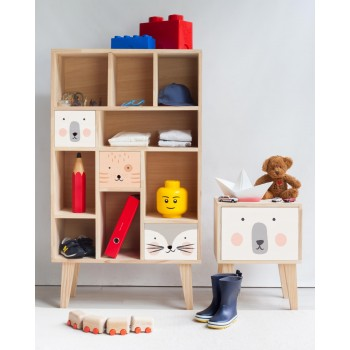 Mueble organizador infantil (Animals are friends)
