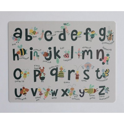 Desk Mat Insects Abecedary