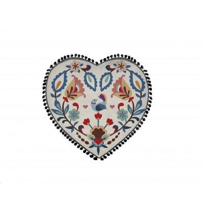 Cojin Formas Lino con Borlas Heart