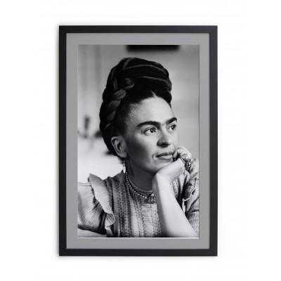 Cuadro moldura negra Frida Kahlo