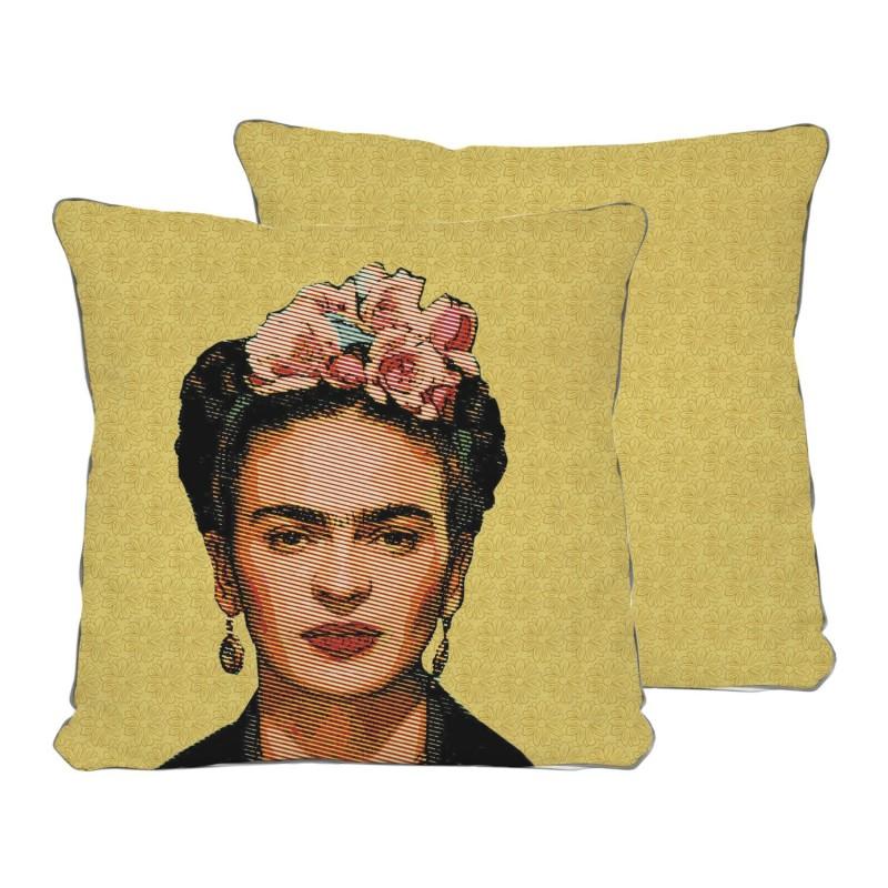 Cojín Frida draw yellow