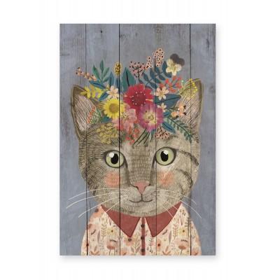 Panel decorativo Floral Cat
