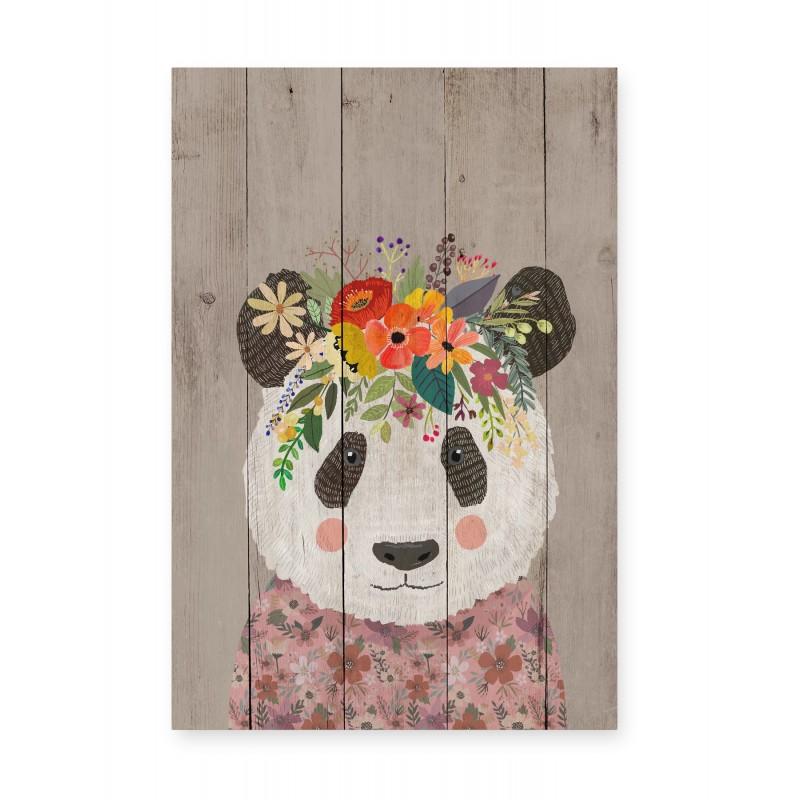 Panel decorativo Floral Panda