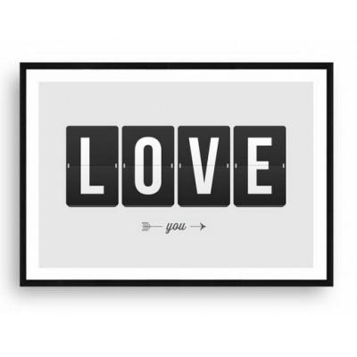 Cuadro Enmarcado Love Clock