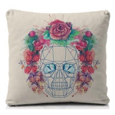 Cojín Skull Flowers