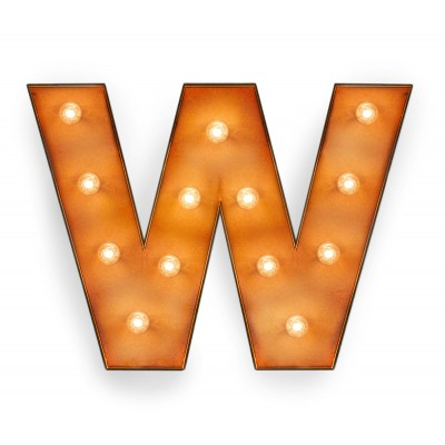 Letter W with Light Bulb