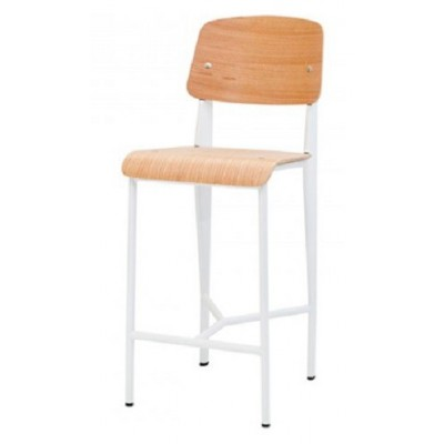 Jean White High Stool