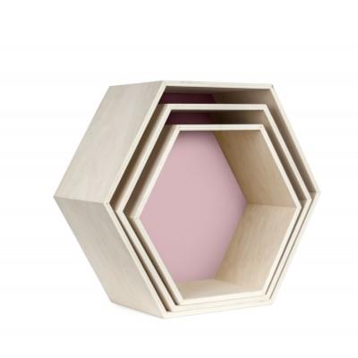 Set 3 Estanterías Hexagonales