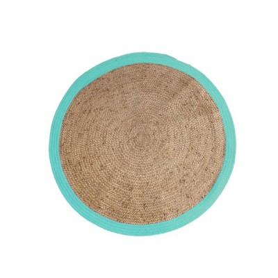 alfombra artesanal caamo aguamarina