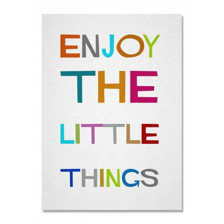 Lienzo Enjoy Little Things