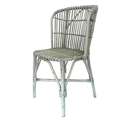 Silla Bamboo Grey Chair