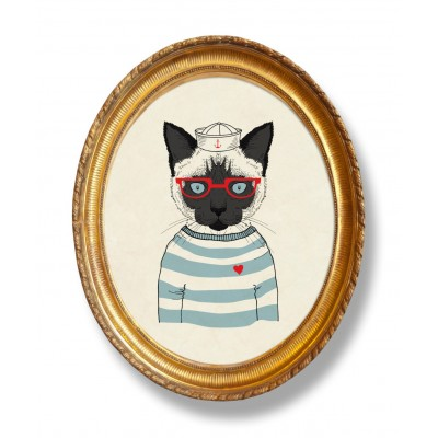 Moldura forma Sailor Cat