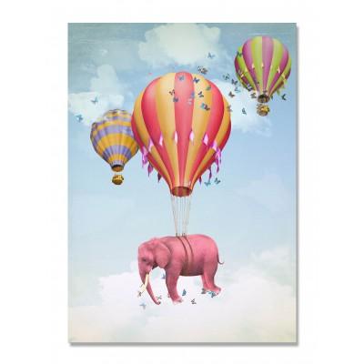 Canvas Flying Elephant